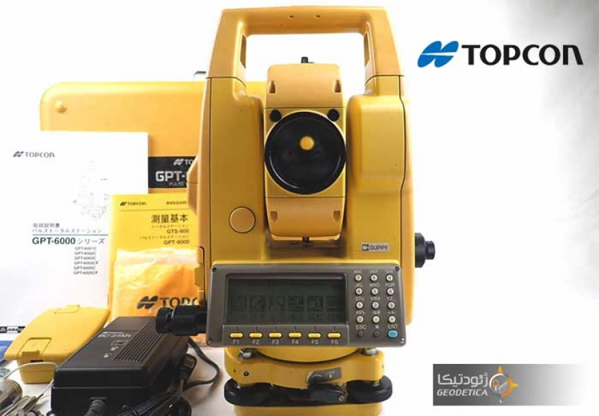 آموزش کار با توتال استیشن تاپکون GPT 6000